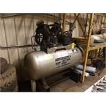 Campbell Hausfeld 10 HP, 2 Stage Air Compressor, s/n 048097L-751570, New 1997, 120 Gallon Tank, 37.6