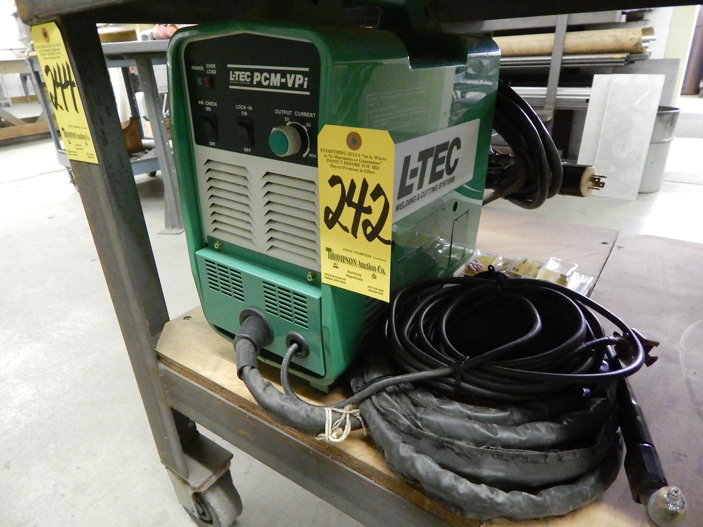 Lot 242 - L-TEC PCM-Vpi Plasma Cutting System ...