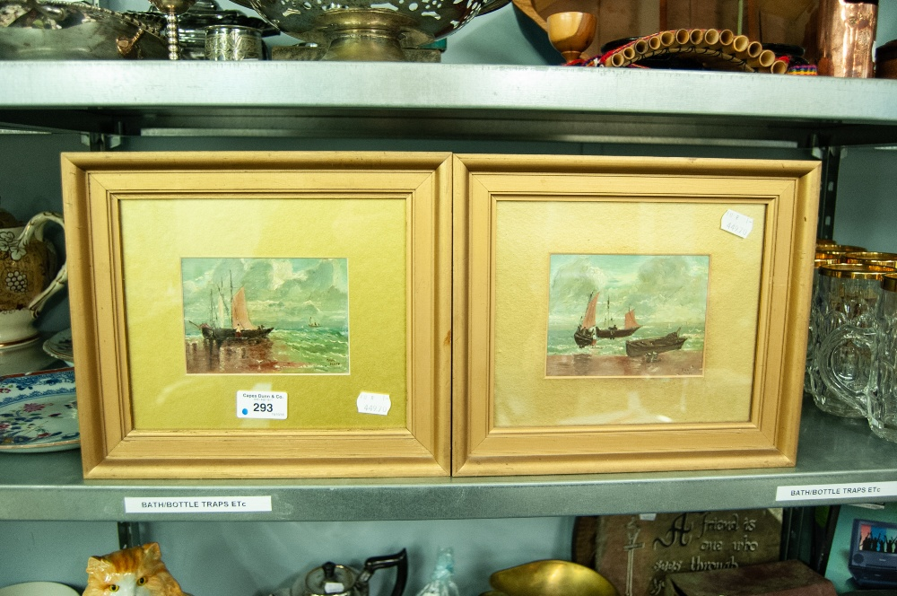 Lot 293 - A PAIR OF SMALL OIL PAINTINGS SIGNED 'SAM MOSS'
