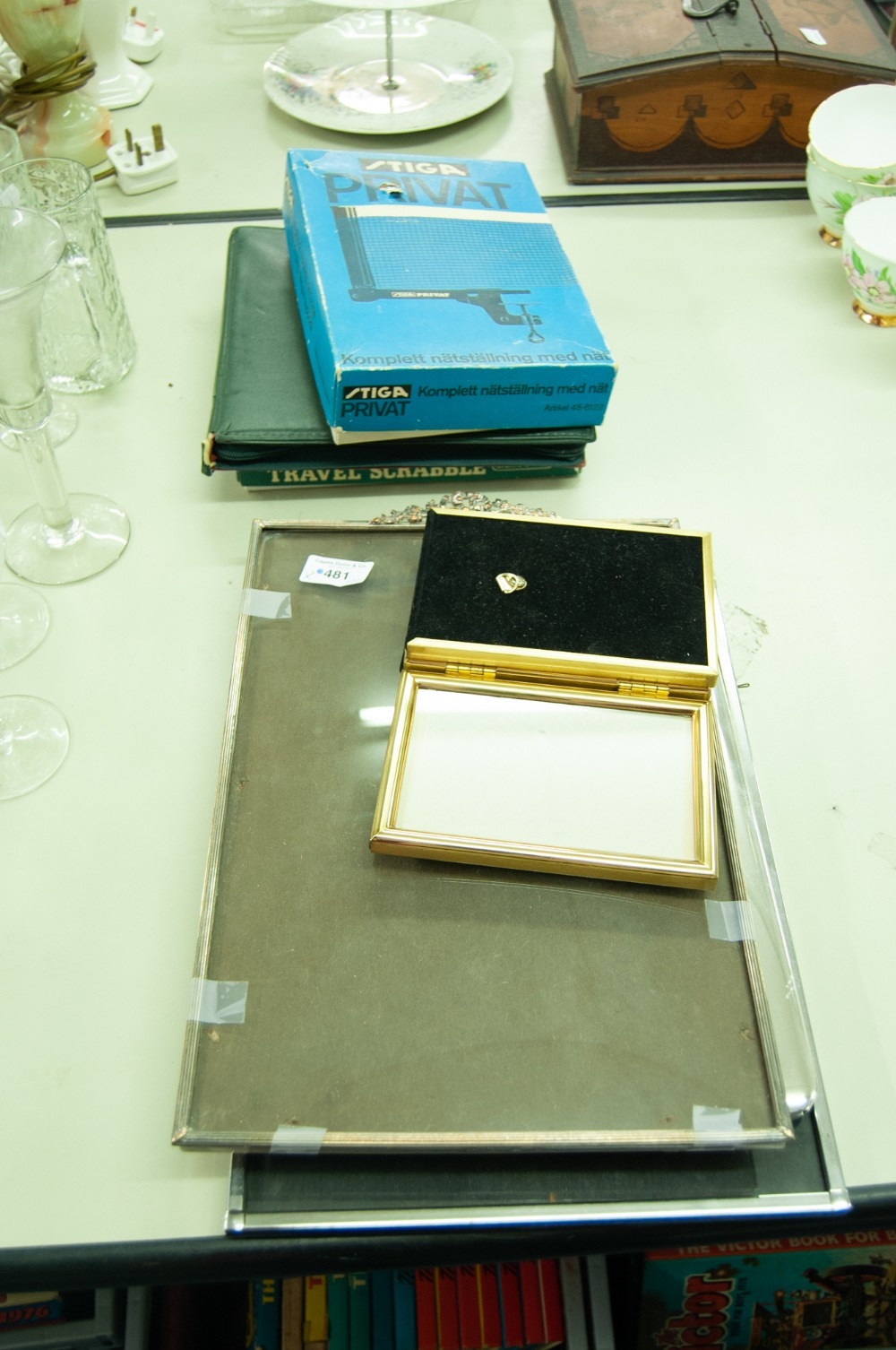 Lot 481 - THREE EASEL PHOTOGRAPH FRAMES AND A TRIPTYCH FRAME (4) AND 3 BOXED GAMES