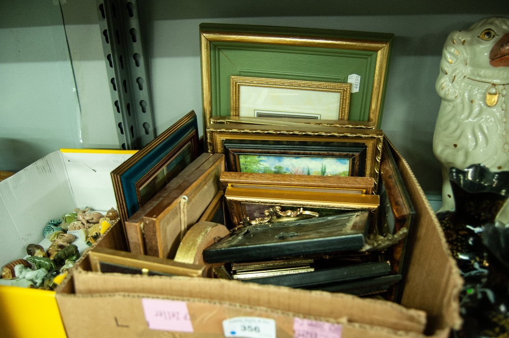 Lot 356 - A BOX OF ASSORTED SMALL PICTURES
