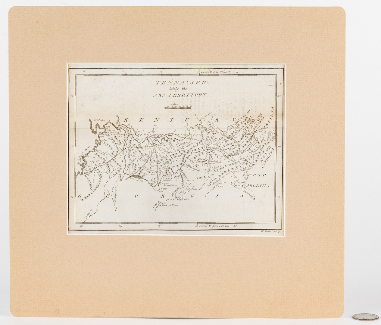 "Lot 248 - Carey 1796 Map of ""Tennassee"""