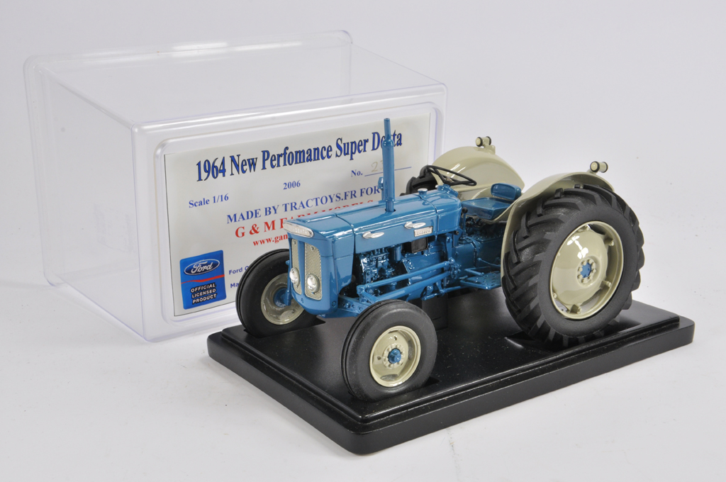 Lot 1 - Tractoys (France) for G&M Farm Models 1/16 Fordson New Performance Super Dexta (1964) Tractor. E