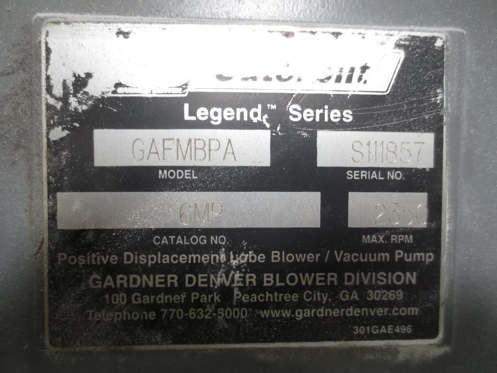 Gardner Denver Vacuum Pump With Filter M/N GAFMBA S/N S111857 - Image 3 of 3