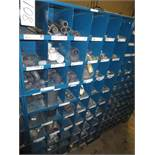 Three Compartment Bins Of PVC & Steel Pipe Fittings And Straps
