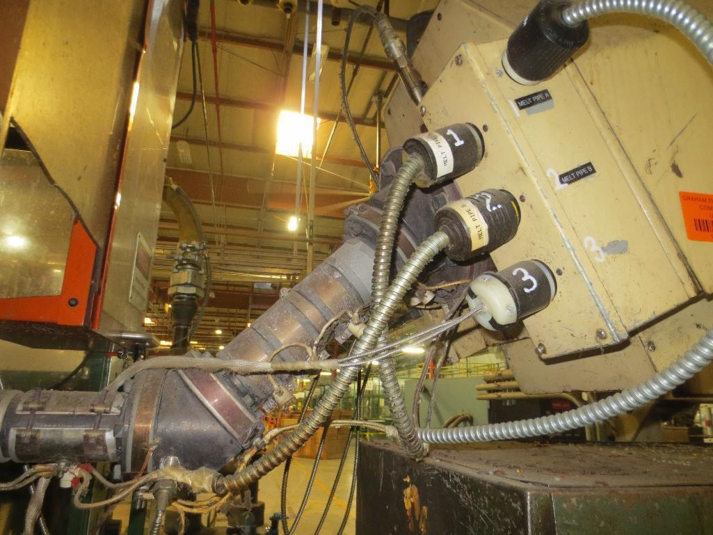 Lufkin Extruder With Baldor 60hp Motor & Control Cabinet, M/N DH150D-411, S/N 6707 - Image 7 of 11