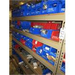 Shelf Plus Contents Of Various Size Pneumatic Cylinders, Valves, Bearings