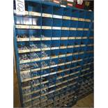 Three Compartment Bins Of Nuts, Bolts, Washers