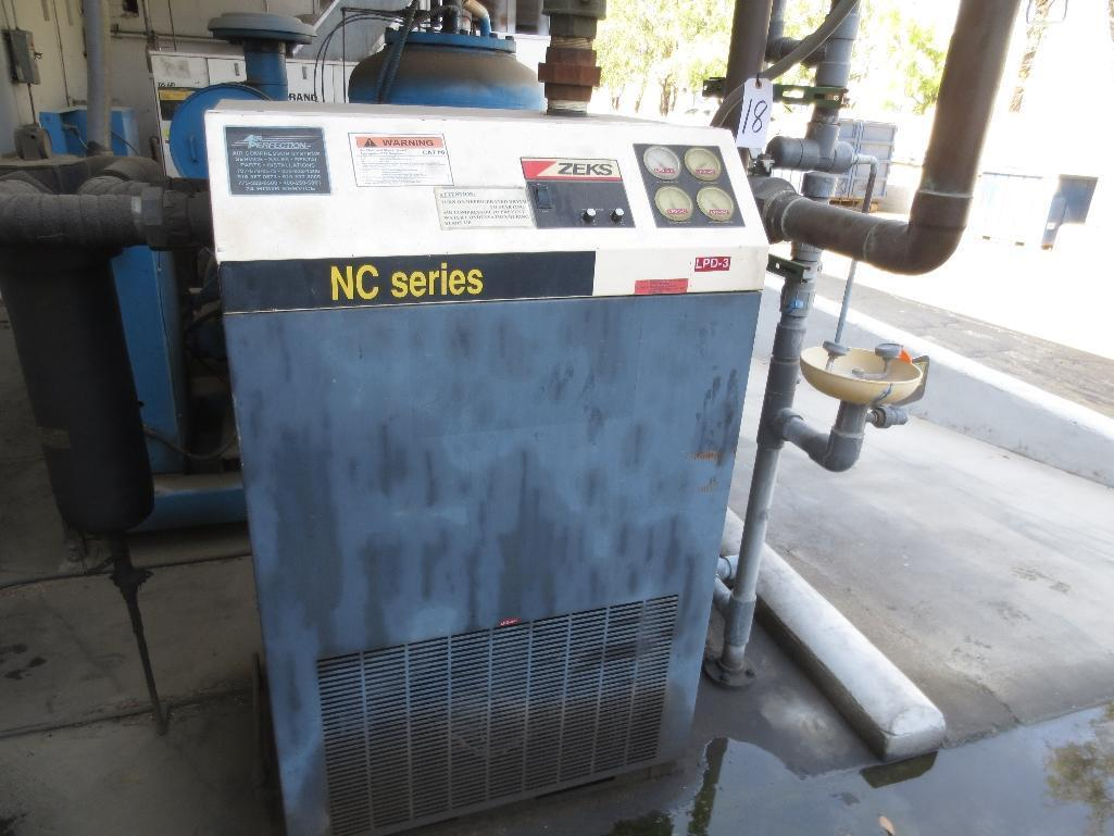 Zeks NC Series Air Dryer, Model & Serial No. Unknown
