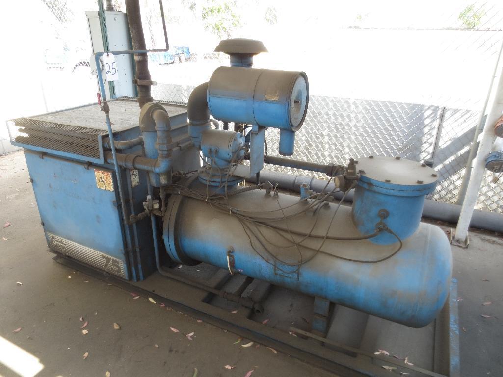 Quincy 75 Air Cooled Rotary Screw Compressor, M/N QMALACA31B S/N 70877