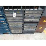 Six Four Drawer Compartment Cabinets With Misc. Contents Of Screws, Nuts, Bolts
