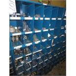 Three Compartment Bins Of PVC & Steel Pipe Fittings
