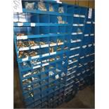 Three Compartment Bins Of Brass & Steel Fittings
