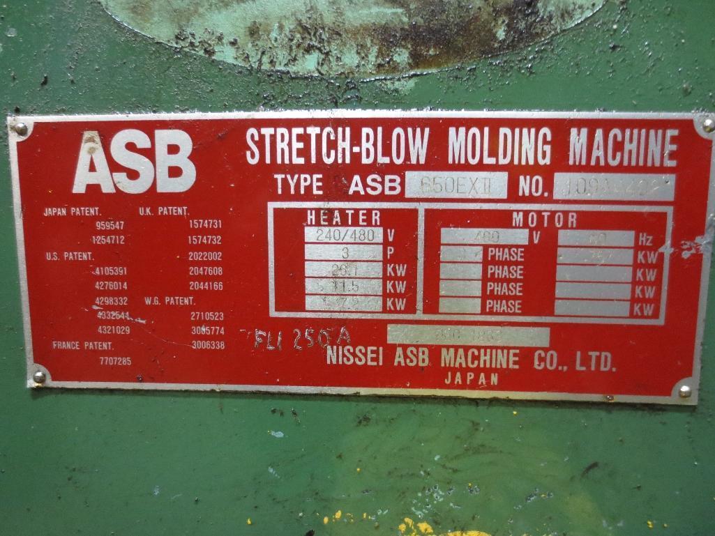 Nissei Stretch Blow Molding Machine, M/N ASB850EX II, S/N 109A4402, Mfg. Date 12/88 - Image 14 of 14