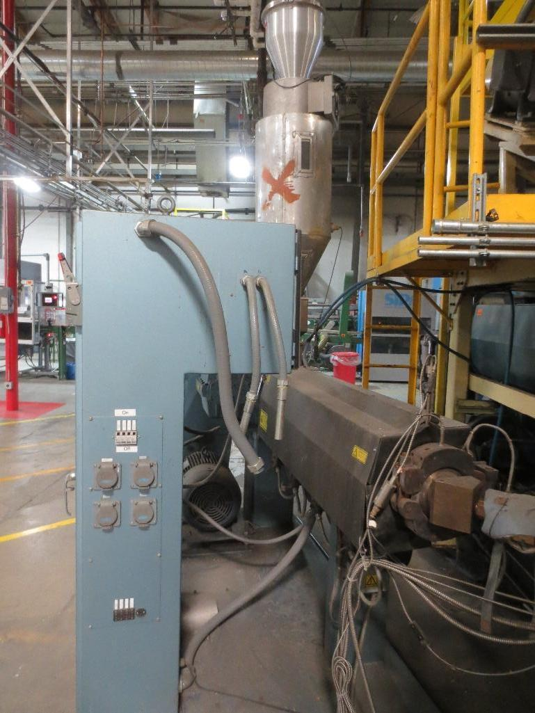 Davis Standard Corp. Extruder With Leeson 40hp Motor & Control Cabinet, M/N SB250, S/N AQ758, Mfg. D - Image 7 of 9