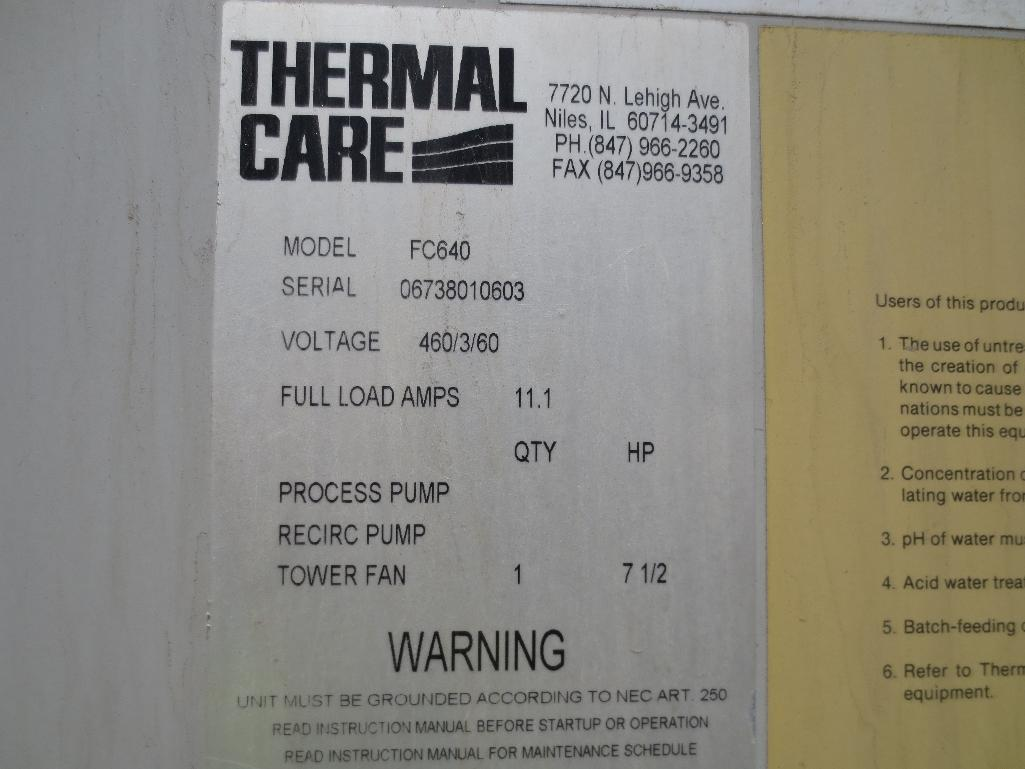 Thermal Care Cooling Towers, M/N FC840, S/N 06738020603 & 06738010603 - Image 7 of 8