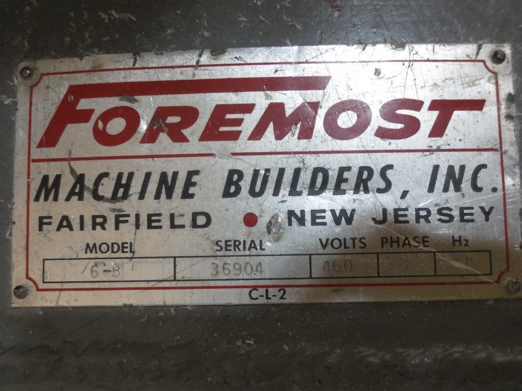 Foremost Grinder With Blower Motor M/N 6-B S/N 36904 - Image 5 of 5