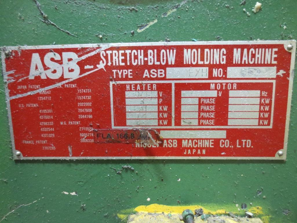 Nissei Stretch Blow Molding Machine, M/N ASB650EX II, S/N 8565292, Mfg. Date 5/86 - Image 16 of 16