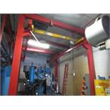 Two Ton H-Frame Crane With Two Ton Manuel Hoist, 25ft Long X 14ft Wide X 15.3ft Tall