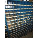 Three Compartment Bins Of Nuts, Bolts Washers