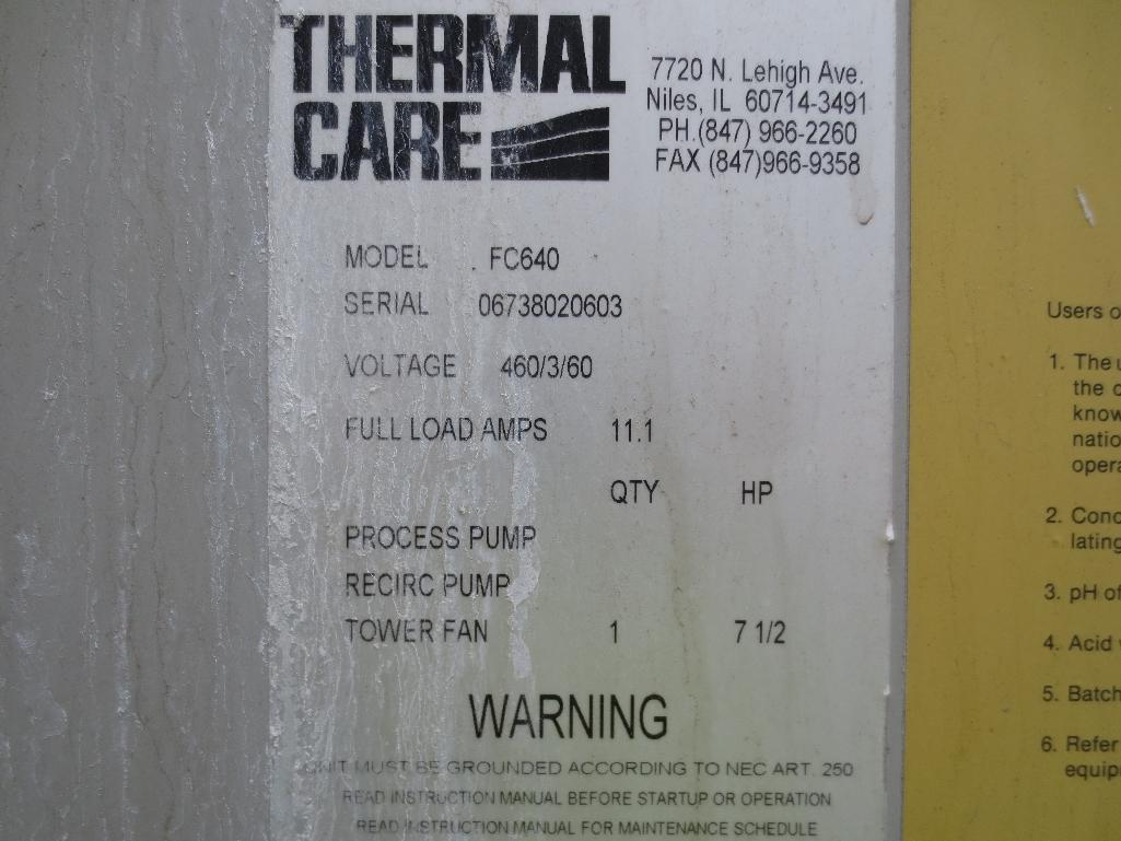 Thermal Care Cooling Towers, M/N FC840, S/N 06738020603 & 06738010603 - Image 8 of 8