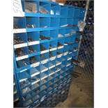 Three Compartment Bins Of Socket Head Bolts, Anchors, Clamps