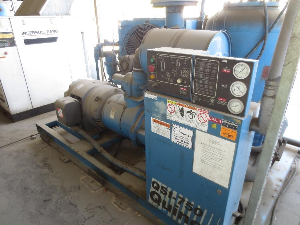 Quincy QSI-750 Air Cooled Rotary Screw Compressor With 150hp Baldor Motor, M/N QSI750ANA31C S/N 9203