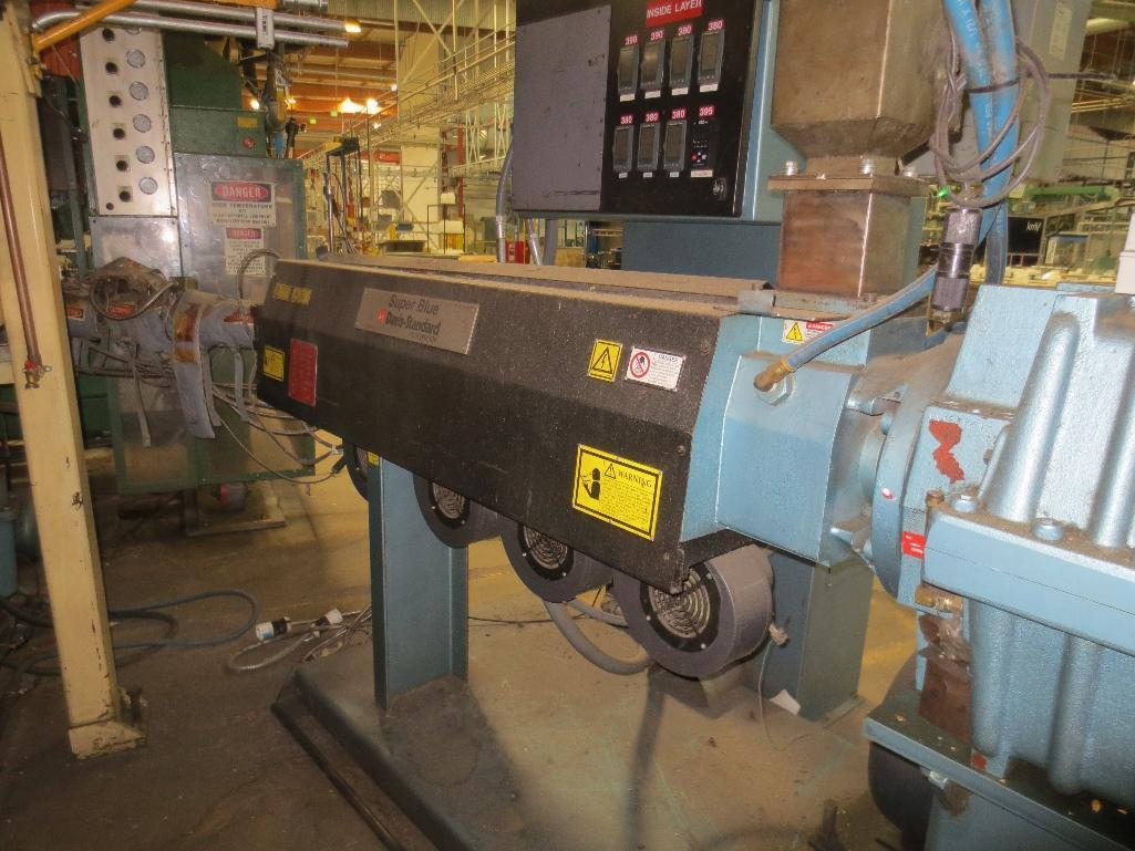 Davis Standard Corp. Extruder With Leeson 40hp Motor & Control Cabinet, M/N SB250, S/N AQ758, Mfg. D - Image 4 of 9