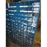 Three Compartment Bins Of Conduit Straps & Couplings