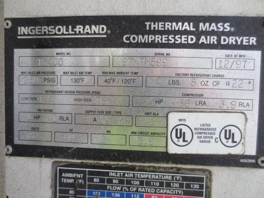 Ingersoll Rand Air Dryer, M/N TM400 S/N 97MTM599 Mfg. Date 12/97 - Image 4 of 4