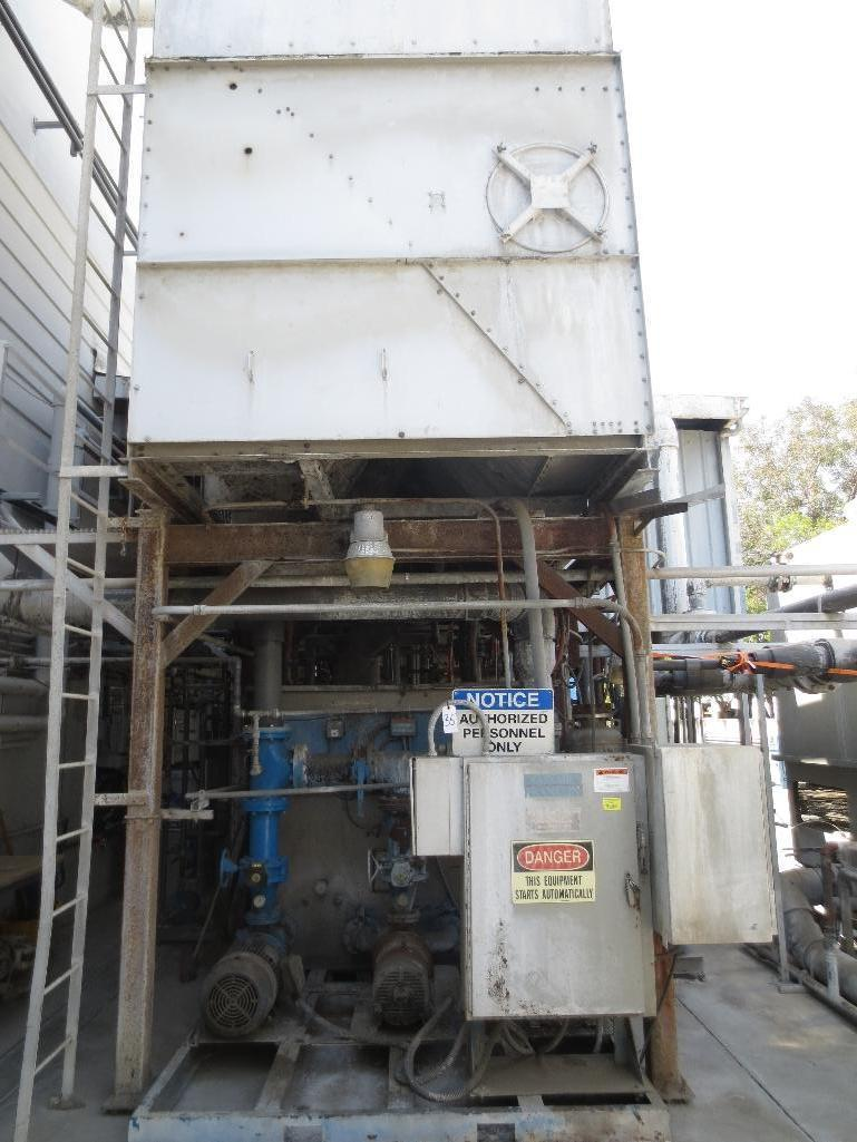 Large Conair/Franklin Cooling Tower & Holding Tank With Three Pump Motors