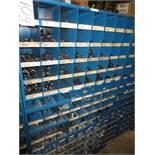Three Compartment Bins Of Socket Head Bolts, Anchor Bolts