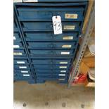 Two Five Drawer Compartment Cabinets With Misc. Contents Of Screws, Nuts, Washers