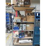 Shelf Plus Contents Of Misc. Electrical Components Including Connectors, Ballast, Switches, Lights E
