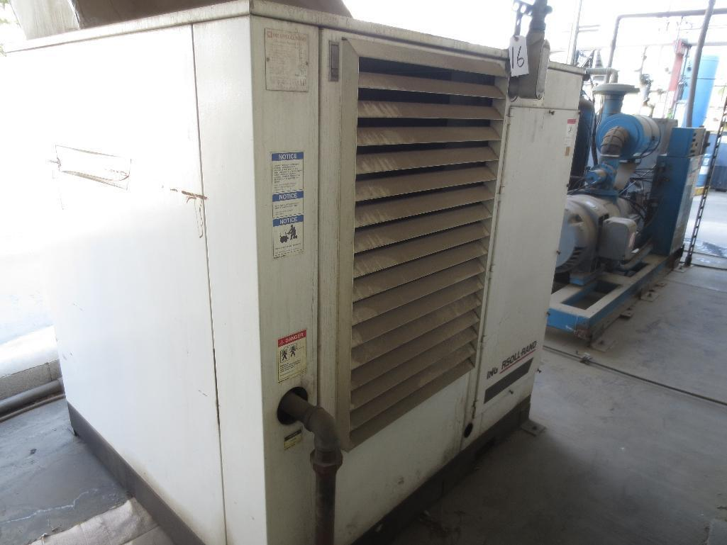Ingersoll Rand Compressor, 237 CFM Capacity, 60hp, 3ph, 60hz, M/N SSR-EP60, S/N CA0194U98020