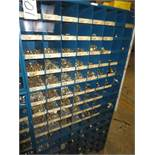 Three Compartment Bins Of Nuts, Bolts, Couplings