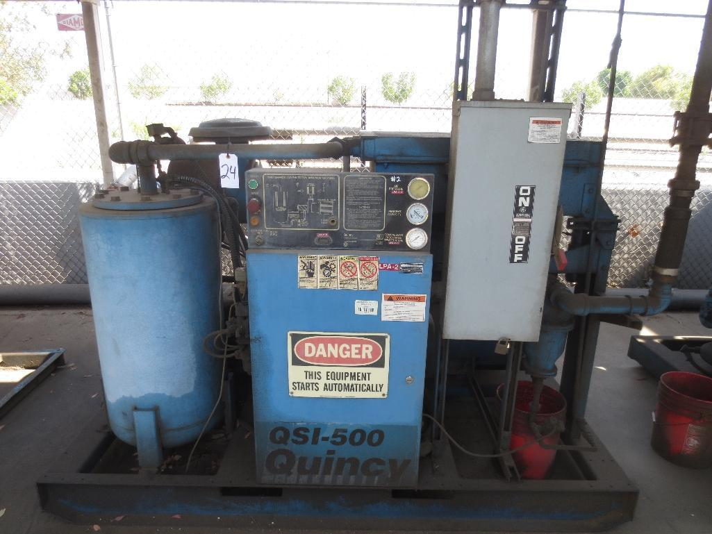 Quincy QSI-500 Air Cooled Rotary Screw Compressor With 100hp Motor, M/N QSI500ANA31A S/N 95268