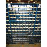 Three Compartment Bins Of Various Size Pipe Nipples & Bushings