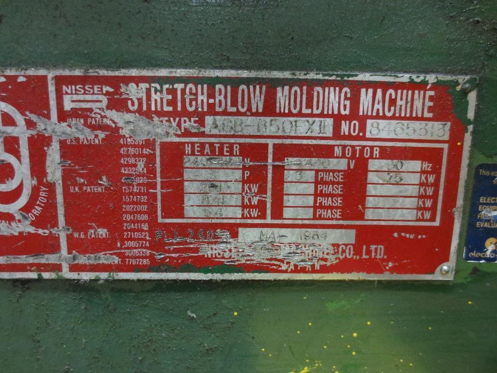 Nissei Stretch Blow Molding Machine, M/N ASB650EX II, S/N 8465313, Mfg. Date 5/84 - Image 18 of 18