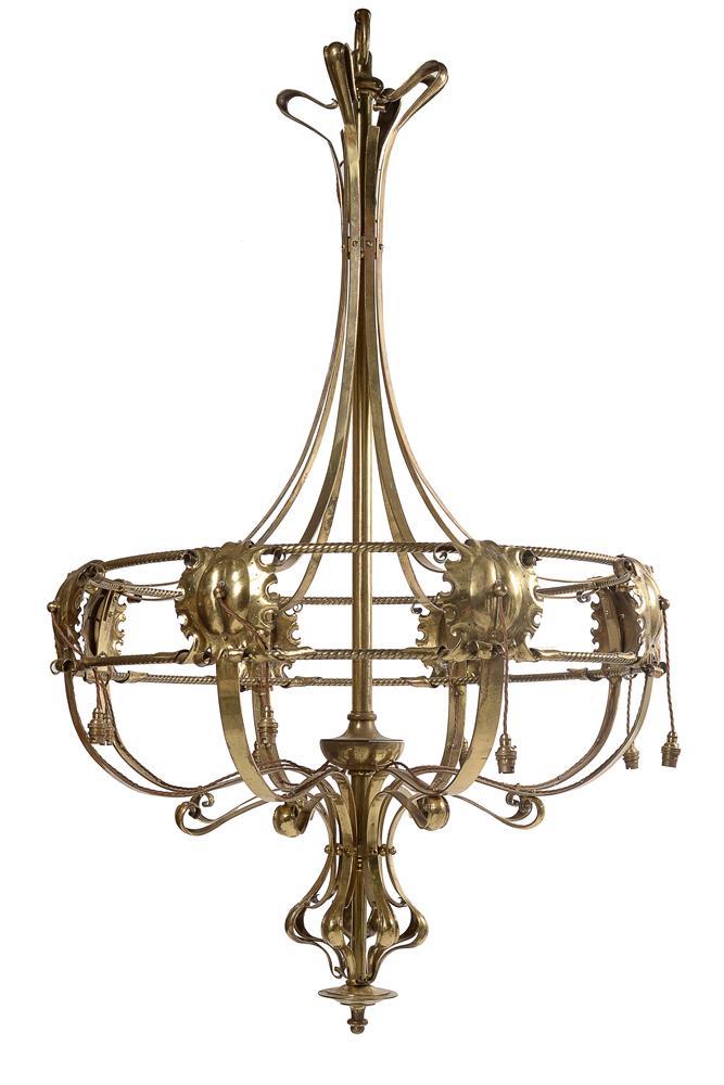 A large art nouveau chandelier