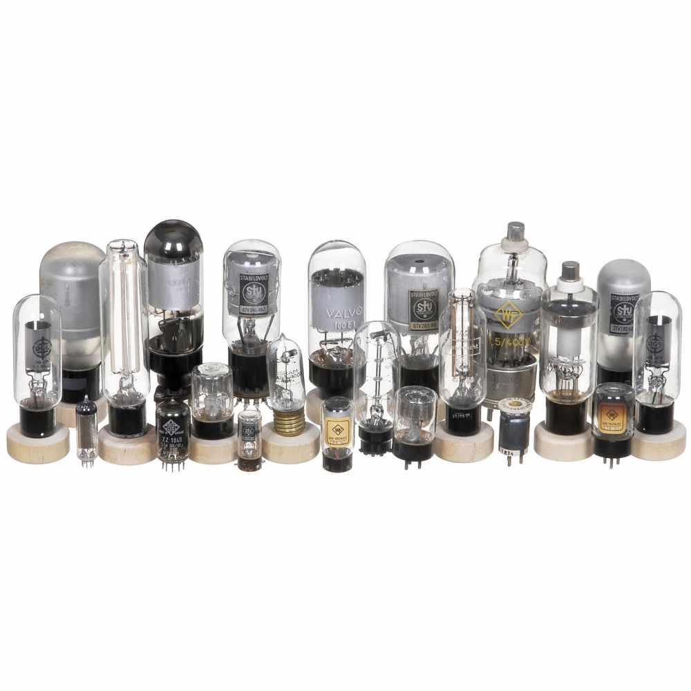 Wehrmacht Voltage-Regulator Tubes, c. 1940STV 150/250 - WF S1,5/40dv - STV 280/40Z - Osram Eisen-