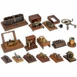 Telegraph and Telephone Accessories, c. 1880-19001) 5 Morse keys, 1 x Maison Breguet, 1 x M.