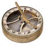 Russian Brass Pocket Equinoctial Sundial, c. 1880Inset dial compass under glass, hour ring with