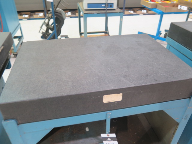 "Lot 135 - 24"" x 36"" x 5"" Granite Surface Plate w/ Roll Stand"