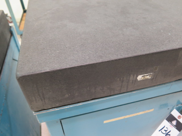 "Lot 136 - 24"" x 36"" x 4"" Granite Surface Plate w/ Cabinet Base"