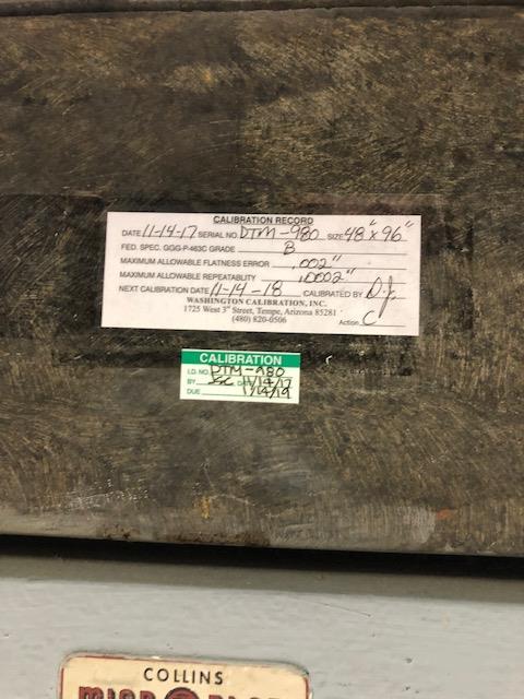 Lot 137B - 48x96 Granite Plate