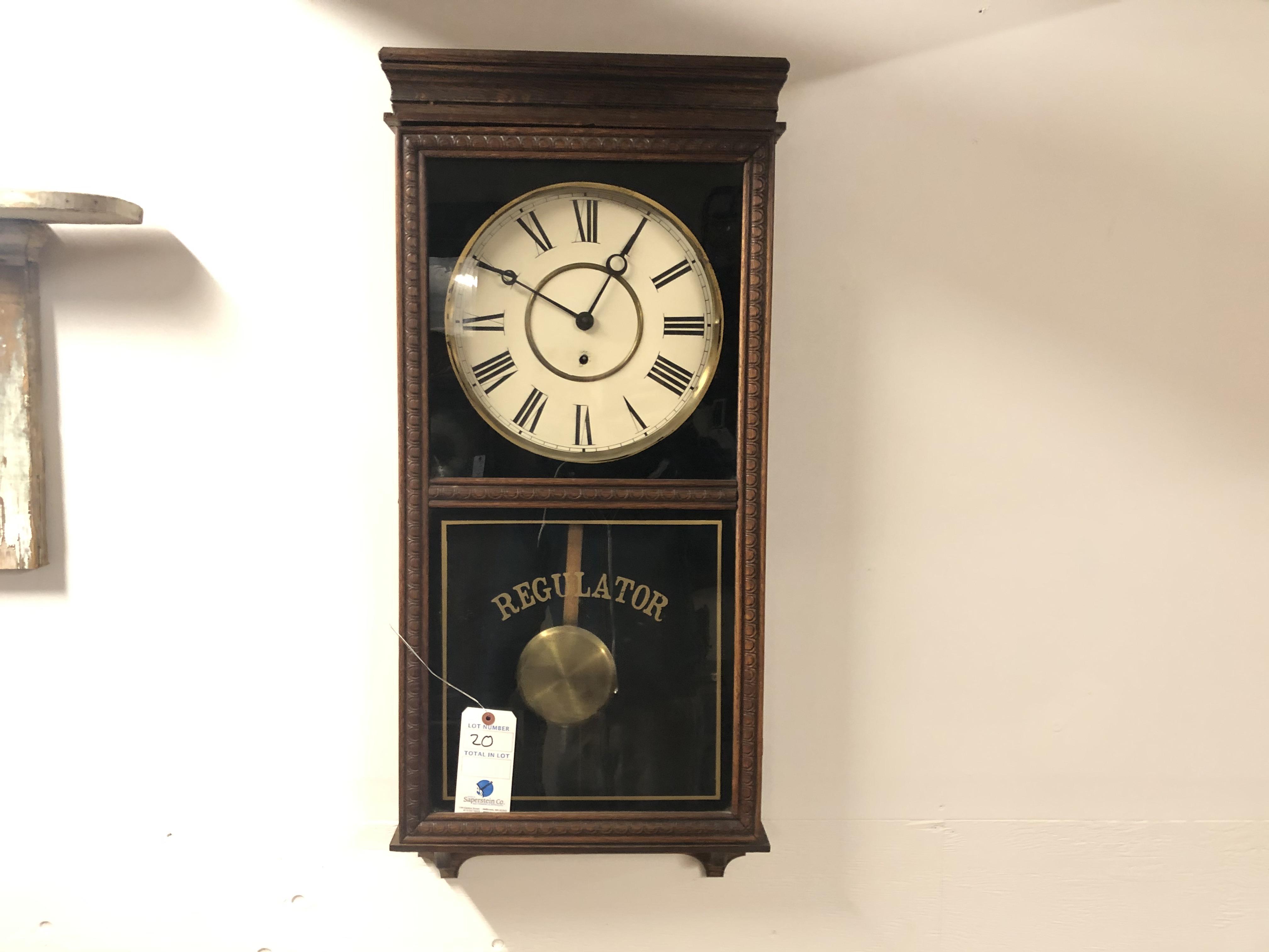 Regulator Hanging Wall Mounted Wood Pendulum Clock