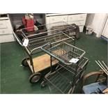 (2) Cart & Custom Made Shop Cart w/Metal Top