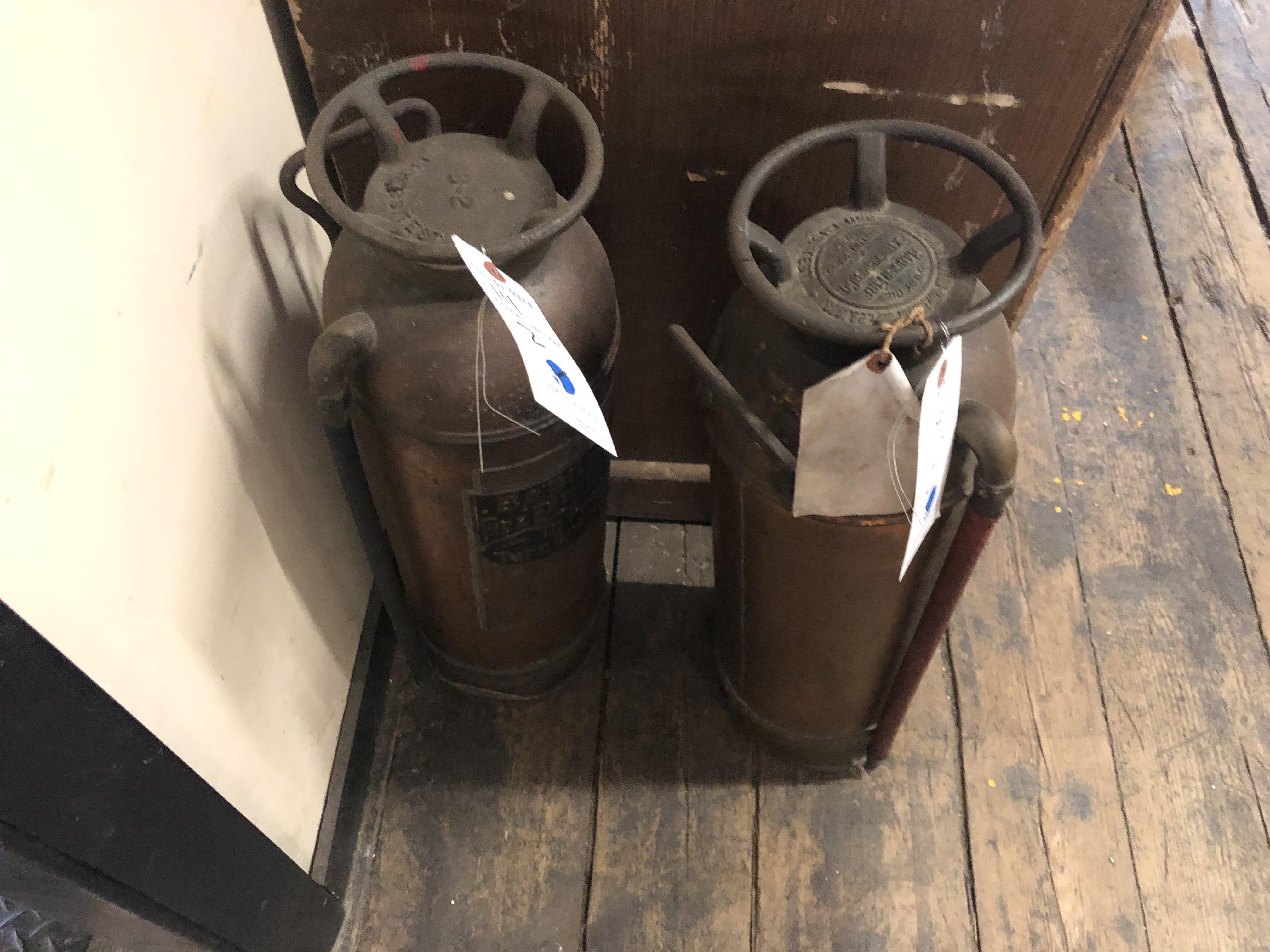 (2) Badgers Antique Fire Extinguishers