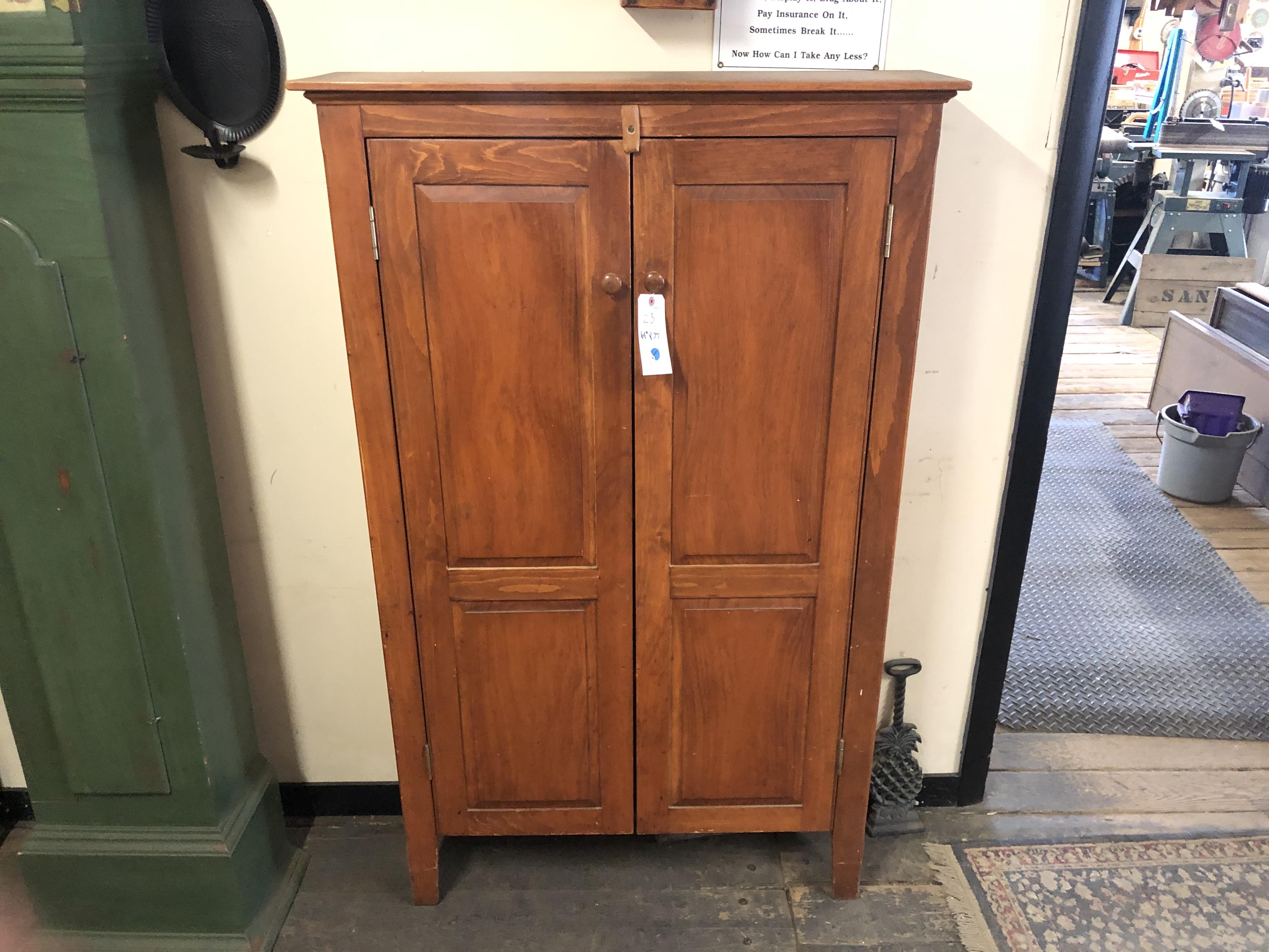 2 Door Wood Pantry Style Cabinet